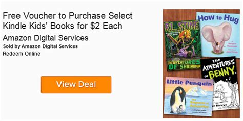 amazon local hot free voucher to purchase kindle kids books for 2 00