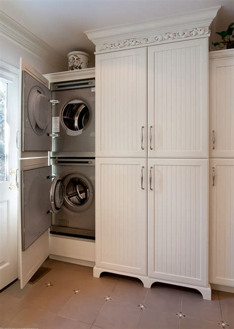 Washer Dryer Cabinet | are the cabinet doors actually attached to washer dryer doors