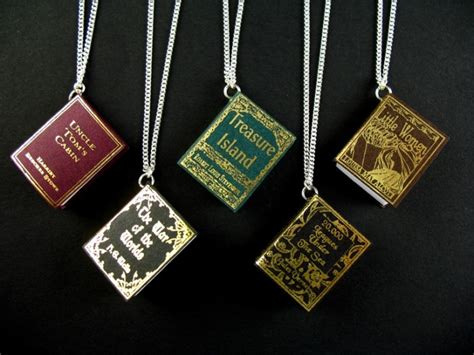 awesome book necklace on the hunt