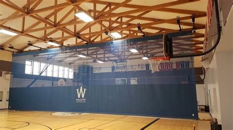 gym curtain wall padding bleachers and a new gym divider curtain for