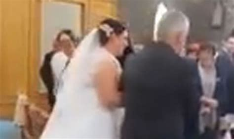 Wedding Upstaged by Church Gasp In Horror As S Big Moment Is Upstaged By