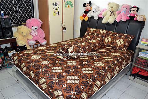 Rivest Batik Jogja 160 X 200 X 20 sprei batik jogja motif jantung krem
