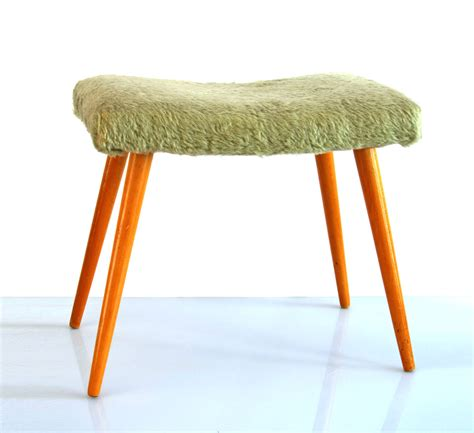 retro wooden stool sixties vintage wooden foot stool