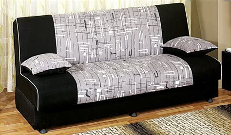 Sofa Beds With Storage Space Detroit Tri Tone Fabric Convertible Sofa Bed W Storage Space