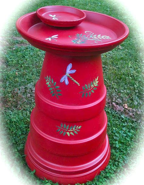 terra cotta crafts terra cotta bird bath craft bird cages
