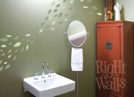 fish wall stickers bathroom school of fish bathroom kids wall decals vinyl art stickers