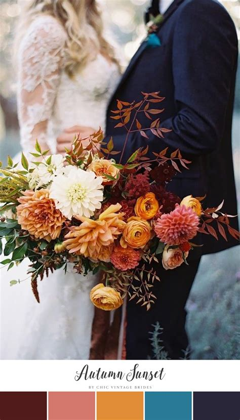 wedding colors for fall 10 stunning autumn wedding colour palettes chic vintage