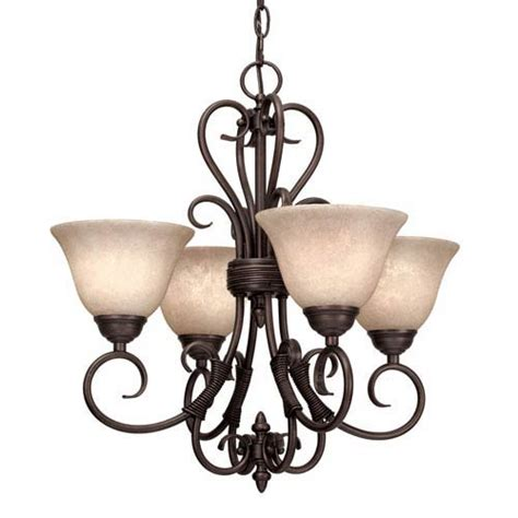 homestead rubbed bronze four light mini chandelier golden