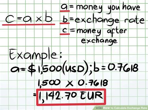 currency converter formula how to calculate exchange rate 9 steps with pictures