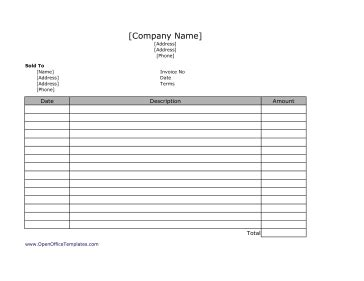 libreoffice invoice template invoice template 2017
