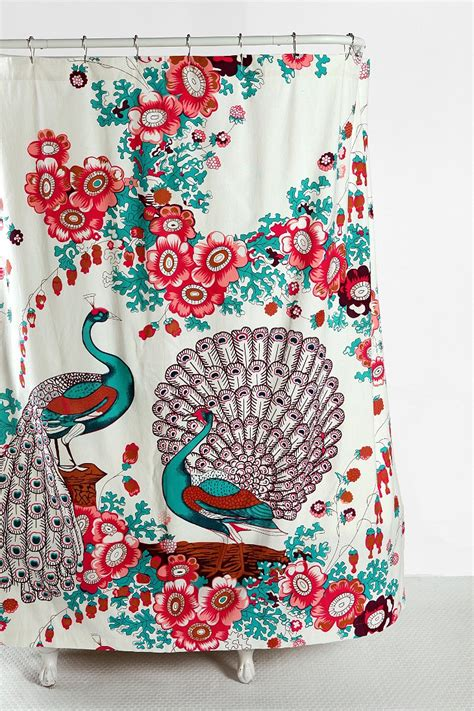 shower curtain urban outfitters floral peacock shower curtain urban outfitters