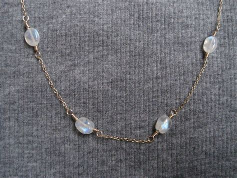 moonstone bead necklace moonstone necklace gold and moonstone necklace moonstone bead