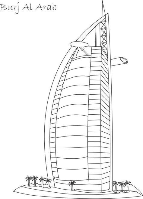 burj khalifa colouring pages school ideas pinterest