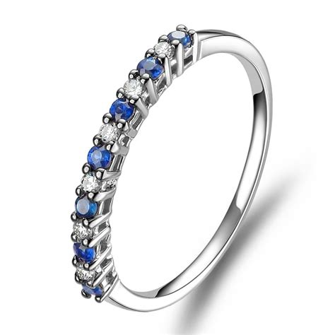 10k white gold wedding band affordable and sapphire wedding band on 10k white gold jeenjewels