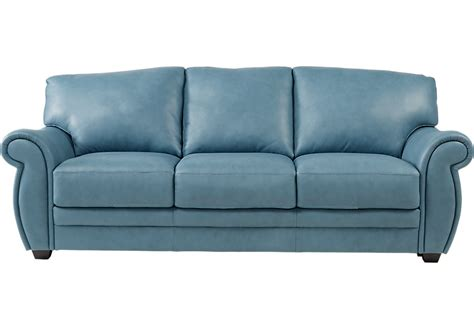 Blue Leather Sofa Martello Blue Leather Sofa Leather Sofas Blue