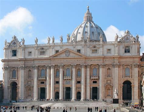Cupola San Pietro Roma Piazza San Pietro E La Basilica
