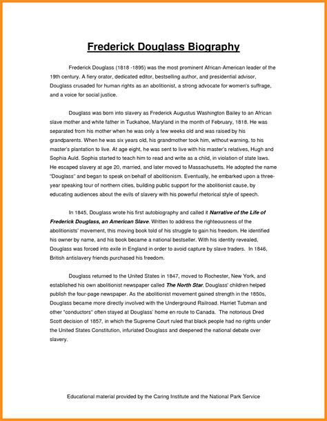 Autobiographical Essay Exle by Sle Of Personal Biography Essay 28 Images 45 Biography Templates Exles Personal Professional