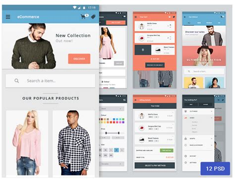 app design view top 35 free mobile ui kits for app designers 2018 colorlib