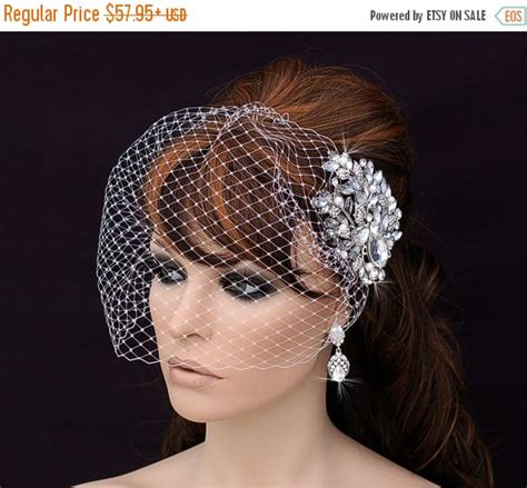 7 Birdcage Veils To Rock For Your Wedding by Comb Birdcage Veil Bird Cage Veil Bridal Headpiece