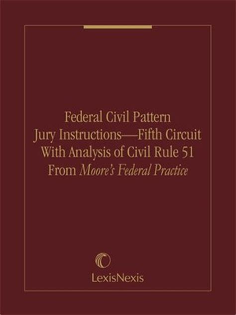 Mississippi Pattern Jury Instructions | federal civil pattern jury instructions fifth circuit