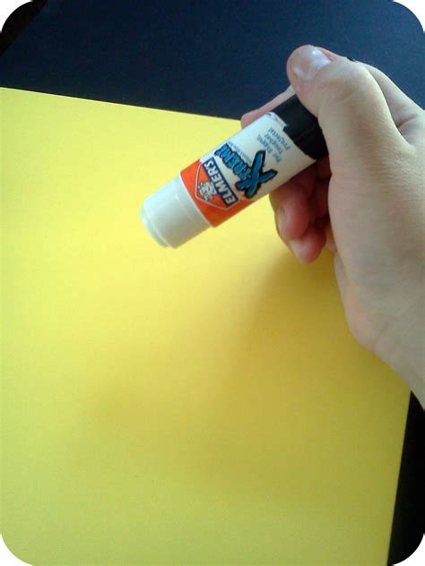 How To Make Paper Glue - how to make a foam board calendar gluenglitter not