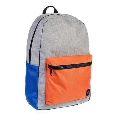 globe dux deluxe backpack grey orange blue banana