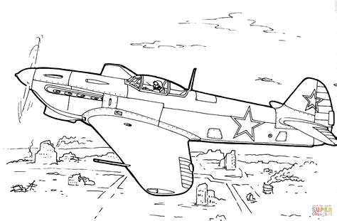 coloring pages military aircraft yakovlev yak 7 fighter aircraft coloring page free