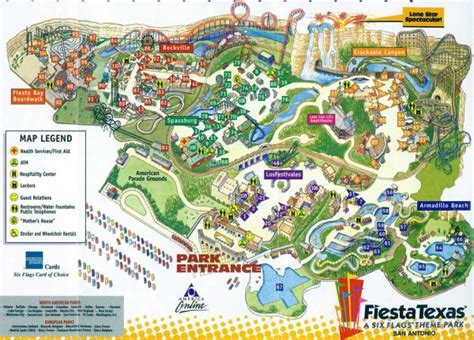 six flags texas map theme park brochures six flags texas theme park brochures