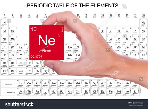 What Is Ne On The Periodic Table by Neon Symbol Handheld The Periodic Table Stock Photo