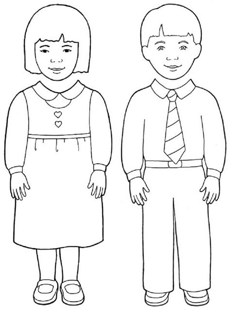 boy template obey parents free colouring pages