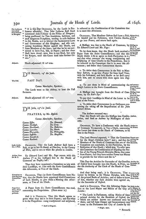 mla letter format house of journal volume 8 25 june 1646 1767