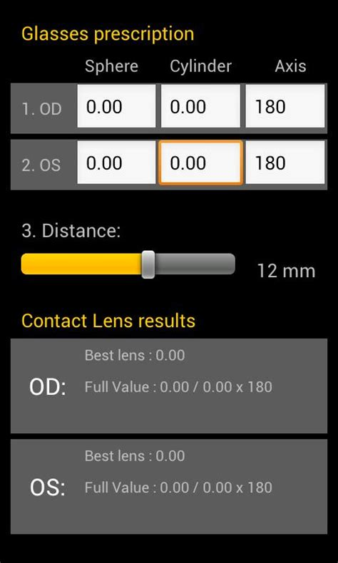 contact lens calculator android apps on play