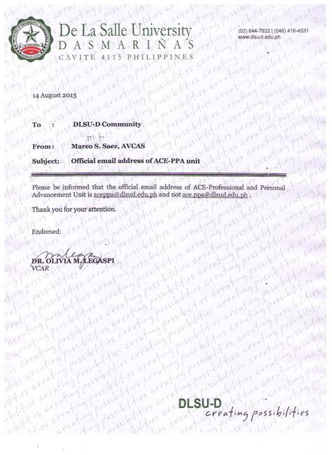 Recommendation Letter La Salle Application Letter Of An Ojt Applicant Ucla Extension The Lyric Essay Writing By Associative