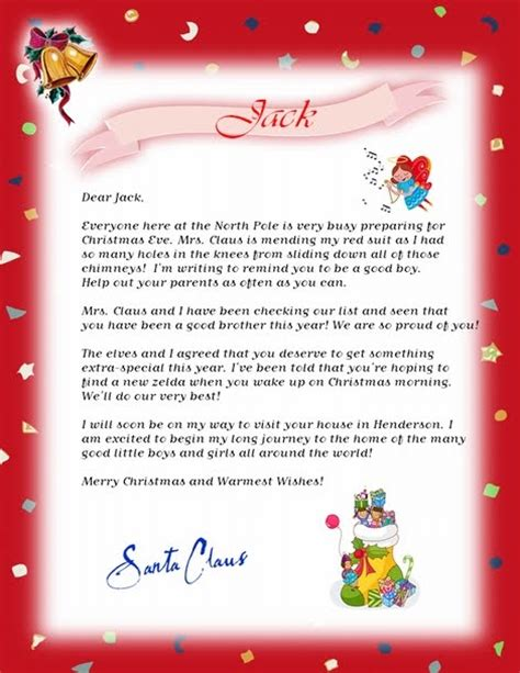 printable free letters from santa free printable santa letters new calendar template site