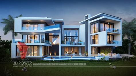 Modern Home Design 3000 Square Feet 3d bungalow elevation 3d power