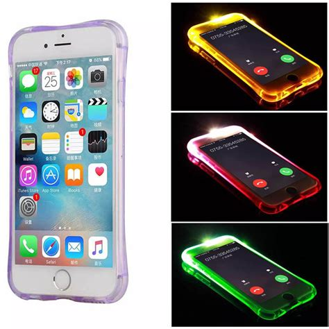 Casing Hp Shockproof Silicone Anti Knock Iphone 5 5s Iphone 5c light flash silicone anti knock for iphone 6 6s 4 7 brand luxury coque back cover for