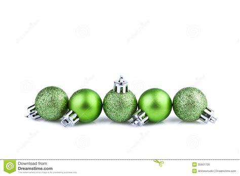 green christmas balls royalty free stock image image