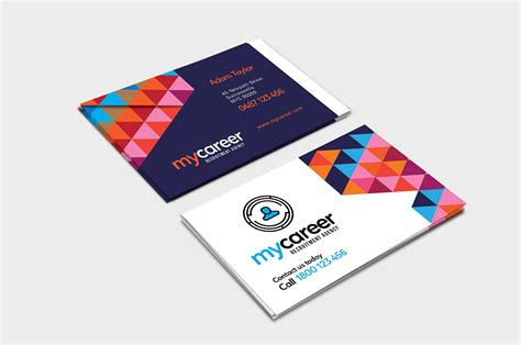 recruiting business cards templates recruitment agency business card template in psd ai