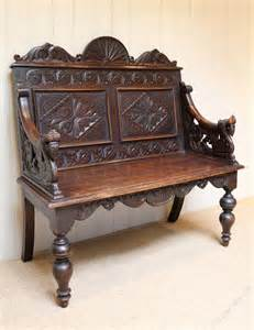 carved oak bench carved oak bench antiques atlas