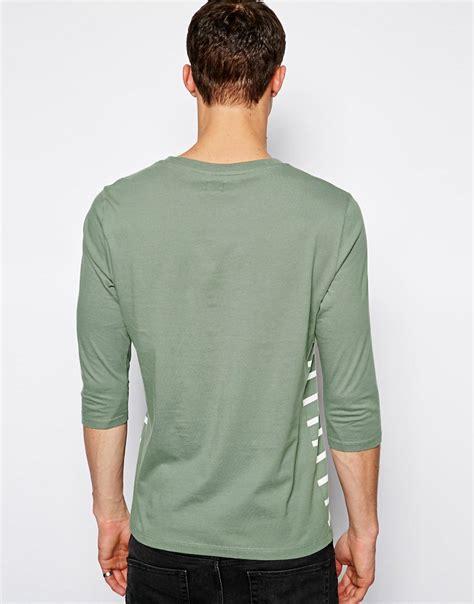 Striped 3 4 Sleeve T Shirt asos asos stripe 3 4 sleeve t shirt at asos