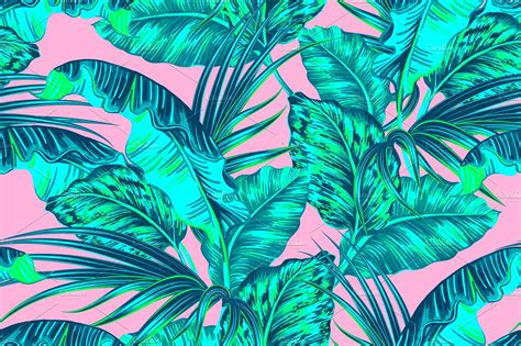 jungle pattern vector tropical jungle leaves pattern patterns creative market