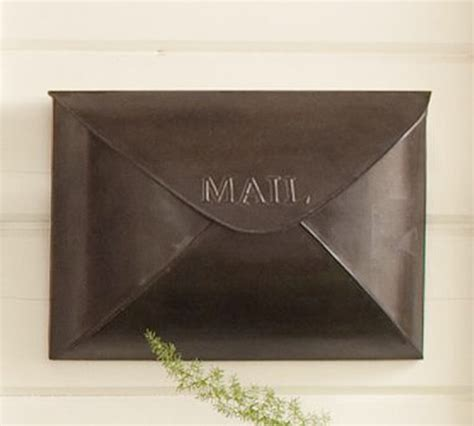 Pottery Barn Mailbox Antique Envelope Mailbox Traditional Mailboxes By