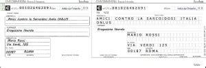 trovare la dall iban donazione amici contro la sarcoidosi italia onlus