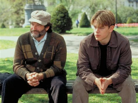 good will hunting park bench scene watch robin williams in good will hunting bench scene
