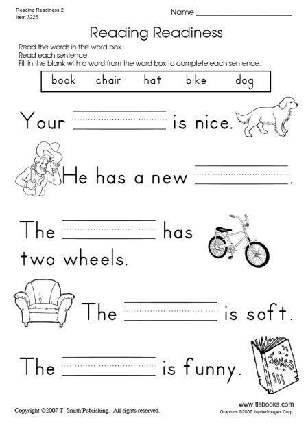 printable english worksheets for grade 1 snapshot image of reading readiness worksheet 2 things