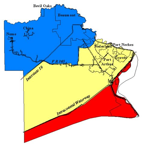 texas windstorm map jefferson county texas map