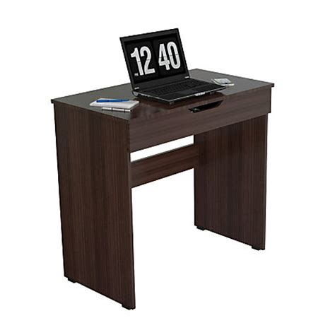 Office Depot Writing Desk Inval Contemporary Engineered Wood Writing Desk With Drawer Espresso Wengue By Office Depot