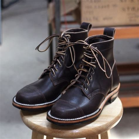 Truman Boot Brown truman boot company horween waxed flesh leather style