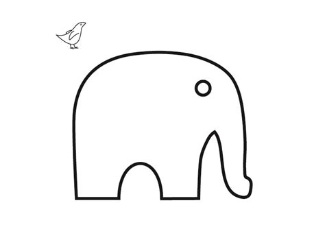 elephant template simple elephant outline cliparts co