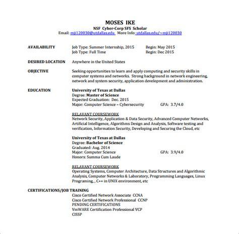 Network Engineer Resume Template ? 9  Free Word, Excel